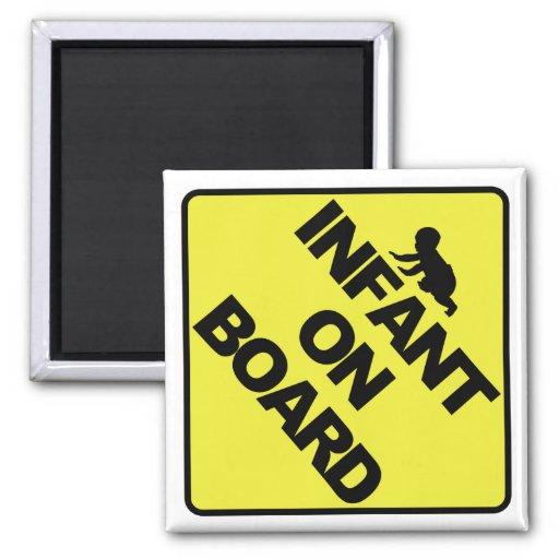 Infant on board fridge magnets