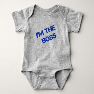 "Infant Onsie - ""I'm The Boss"" Print Baby Bodysuit"