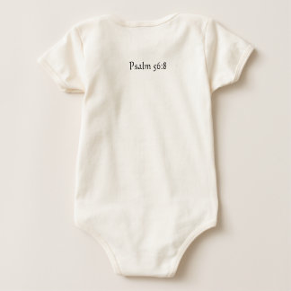 infant onsy bible verse  psalm 56:8 baby bodysuit