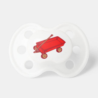 INFANT PACIFIER RED WAGON