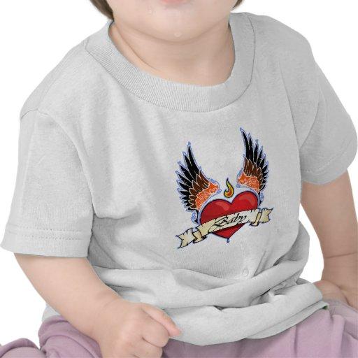 Infant Shirt Winged Heart