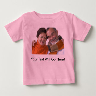 Infant Shirt With Custom Photo and Text