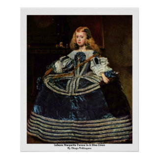 Infanta Margarita Teresa In A Blue Dress Poster