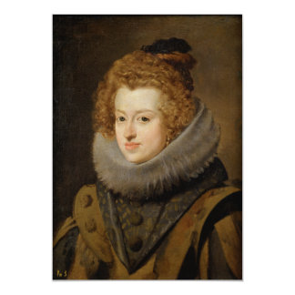 Infanta Maria of Austria by Diego Velázquez 13 Cm X 18 Cm Invitation Card