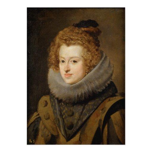 Infanta Maria of Austria by Diego Velázquez Personalized Invite