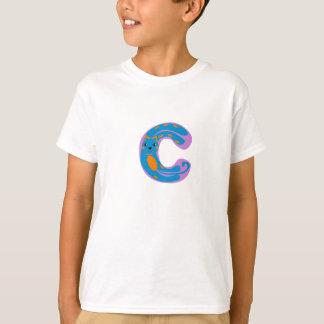 "infantile initial ""C "" Tshirts"