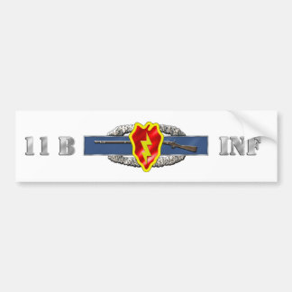 INFANTRY 11B 25TH ID BUMPER STICKERS