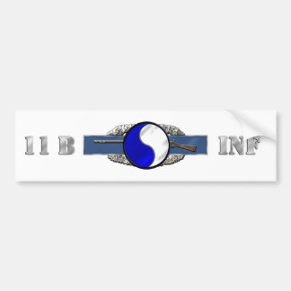 INFANTRY 11B 29TH ID BUMPER STICKER