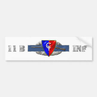 INFANTRY 11B 38TH ID BUMPER STICKER