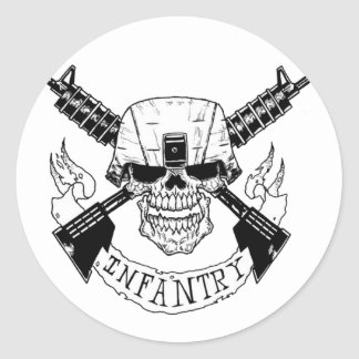 INFANTRY CLASSIC ROUND STICKER