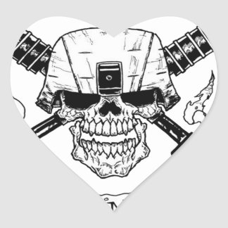 INFANTRY HEART STICKER