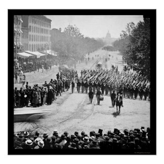 Infantry Parade on Pennsylvania Avenue 1865 Poster