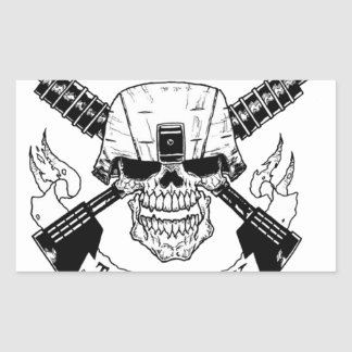 INFANTRY RECTANGULAR STICKER