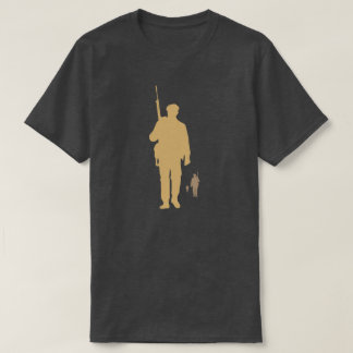 Infantry to soldier on march dark grey t-shirt