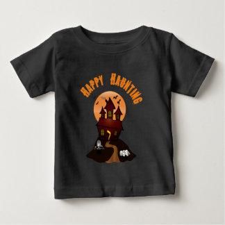 Infant's Black Happy Haunting Halloween Tshirt