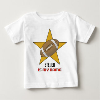 Infant's Personalized Football Star T-shirt