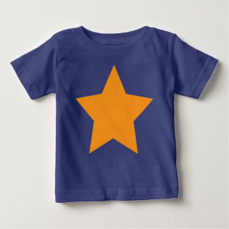 Infant's Tee with Orange Star on Blue Background