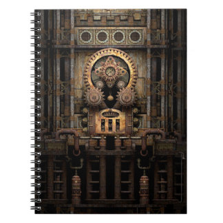 Infernal Steampunk Machine Spiral Notebook