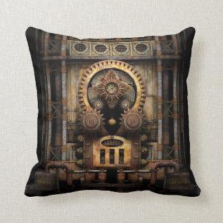 Infernal Steampunk Machine Throw Cushion