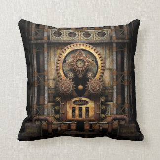 Infernal Steampunk Machine Throw Pillow