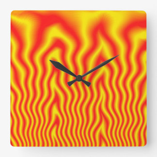 Inferno Square Wall Clock