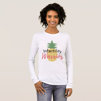 """Infertility Warrior"" Young Mrs. TTC Shop Long Sleeve T-Shirt"
