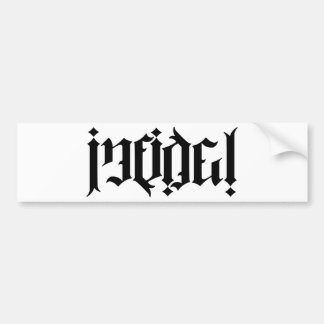 Infidel Ambigram Bumper Sticker