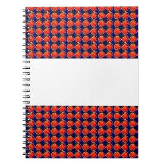 Infiniity Symbol Red BLANK strip add TEXT IMAGE 99 Notebooks