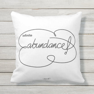 infinite ABUNDANCE - Bold CloudS Outdoor Cushion