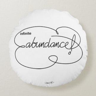 infinite ABUNDANCE - Bold CloudS Round Cushion