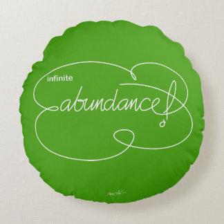 infinite ABUNDANCE - Bold CloudS - W Round Cushion