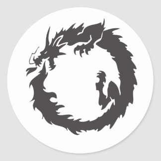 Infinite Dragon Classic Round Sticker