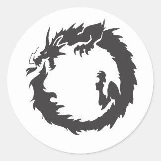 Infinite Dragon Round Sticker