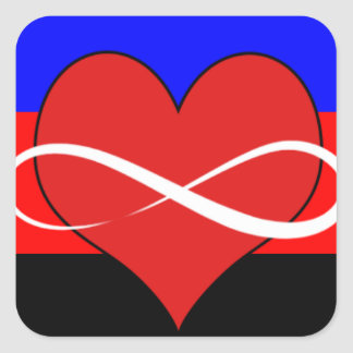 Infinite Heart with Flag Square Sticker