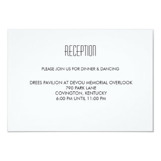 Infinite Initials Wedding Reception Card Mint