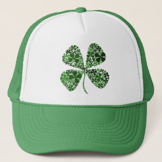 Infinite Luck 4-leaf Clover Trucker Hat