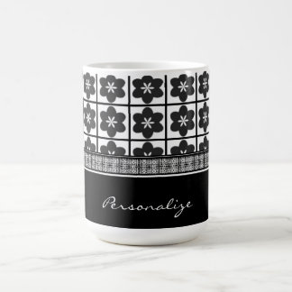 Infinite Onyx Bloom Coffee Mug