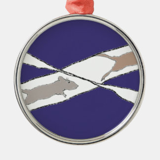 Infinite Rat Race Silver-Colored Round Decoration