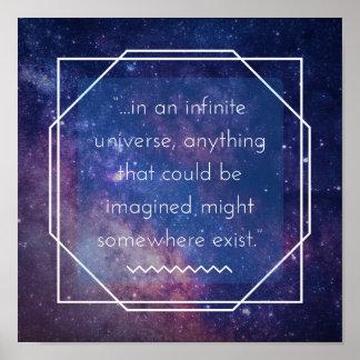 Infinite Universe Positive Affirmation Poster