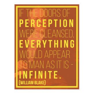 'Infinite' William Blake Quote Postcard