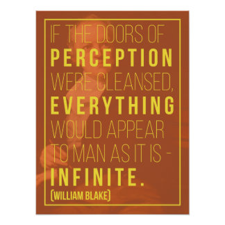 'Infinite' William Blake Quote Poster
