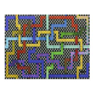Infinitie Interactive Puzzle Maze Design Postcard