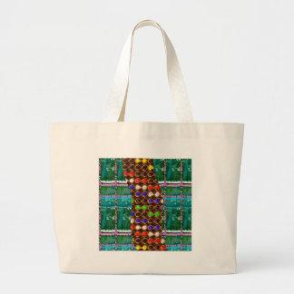 Infinity ART on Emerald Green CRYSTAL Stone Base Bags