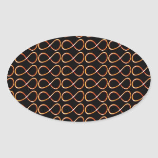 INFINITY BLACK and GOLD Decorative Graphic GIFTS Oval Stickers