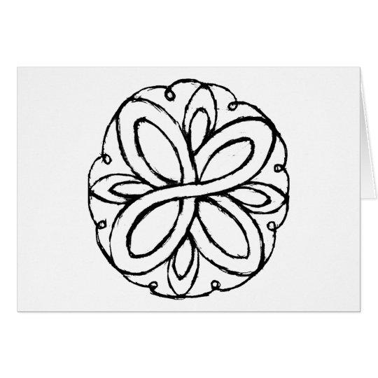 Infinity Flower Card