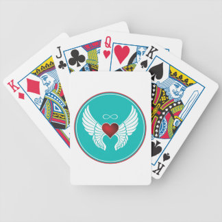 Infinity Flying Heart Bicycle Playing Cards