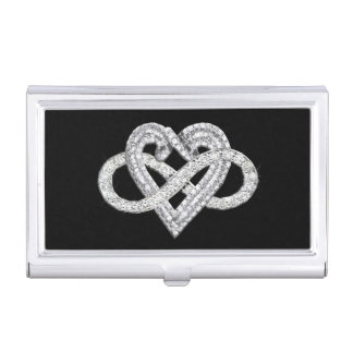 Infinity Heart Business Card Holder