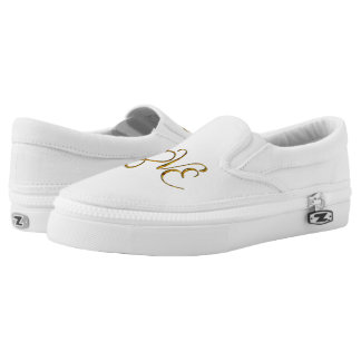 Infinity Heart Lemniscate - LOVE gold Printed Shoes