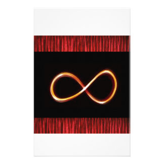 INFINITY Infinite GOLD Symbol Graphic Art - GIFTS Personalized Stationery