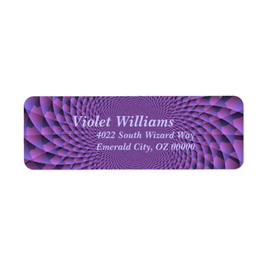 Infinity Is Purple Return Address Label